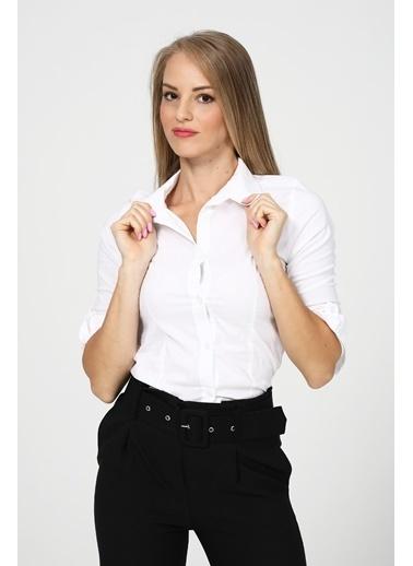 Modaplaza Kadın Gömlek Beyaz Beyaz